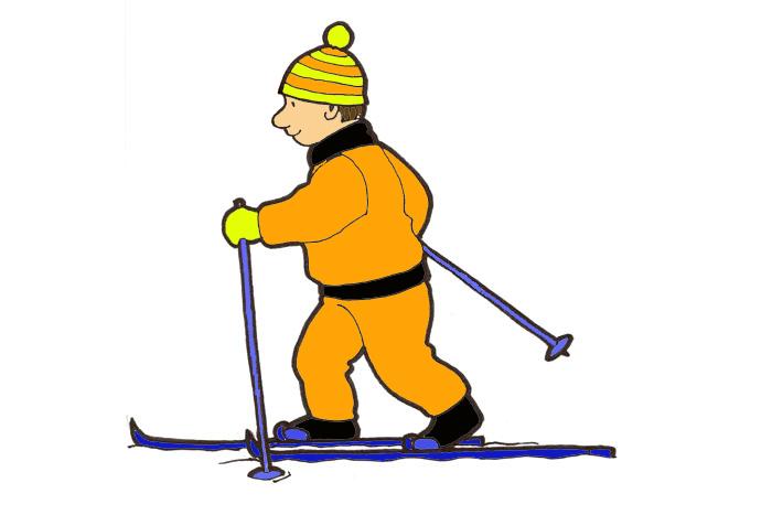 Надписи, лыжница картинки для детей