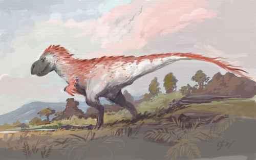 Höyhenpeitteinen Tyrannosaurus