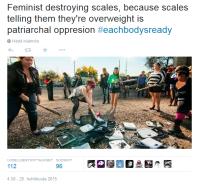 Feministit rikkomassa vaakoja