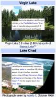 virgin lake vs Lake Chad
