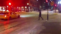Talvi yllätti kävelijät