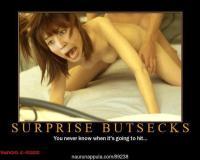 Surprise buttsex
