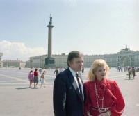 Donald ja Ivana Dvortsovajalla.