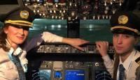 Venäläinen mieh... naisisto lentokoneessa