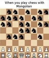 Šakkia mongolin kanssa