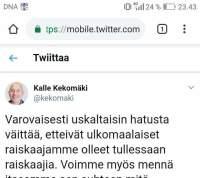 Sisäministeriön virkamies avautuu Oulun tapahtumista.