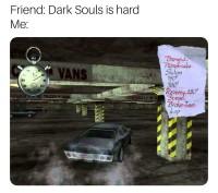 Auto pelien Dark Souls