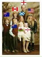 Anglomaailman iloinen perhe
