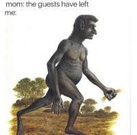 Luolastolainen poistuu huoneestaan