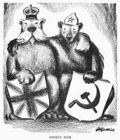 Karhu ja leijona seisovat yhdessä!