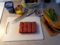 Pata-sedön salaattijuustopihvi- ja kerrosbörjer + prosessi