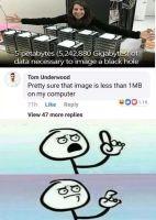 Kuva mustasta aukosta