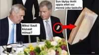 Sauli opettaa Anttia