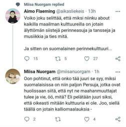 Suomessa ei ole kulttuuria
