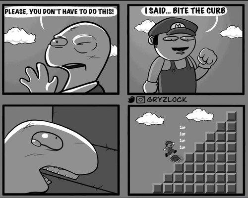 bite the curb